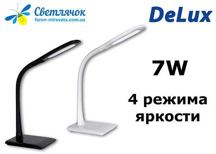Настільна світлодіодна лампа DELUX TF-110 7W біла, фото 2