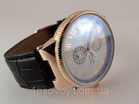 Мужские часы - Ulysse Nardin - Le Locle на черном ремешке, цвет корпуса золото, светлый циферблат