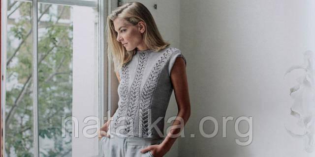 Ажурная вязаная блуза для бизнес-леди  стильно и элегантно!. Статьи ... 6ae05b92e4b85