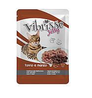 Пауч для котов Vibrisse Jelly Тунец и говядина в желе
