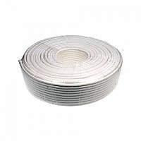 Комбинированный кабель Одескабель КВК-В-2+2*0,50 с запиткой бухта 200 м оболочка ПВХ цвет белый/ черный