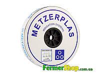 """Капельная лента """"METZERPLAS"""" 1000 м, расстояние капельниц 20 см, 1,6 л/ч, 8mil - Израиль"""