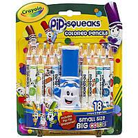 Карандаши Crayola PiP-Squeaks 18 цветов +точилка