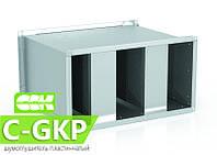 Шумоглушитель пластинчатый канальный C-GKP-90-50