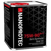 Трансмиссионное масло Nanoprotec Gear Oil 75w90 GL-4 1л