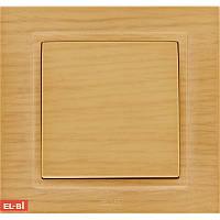Кнопка звонка  EL-BI Zena Woodline берёза (механизм)