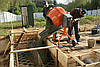 Заливка бетонных стен и фундамента