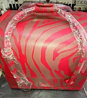 Чемодан, маникюрная сумка для мастера, кож.зам, зебра