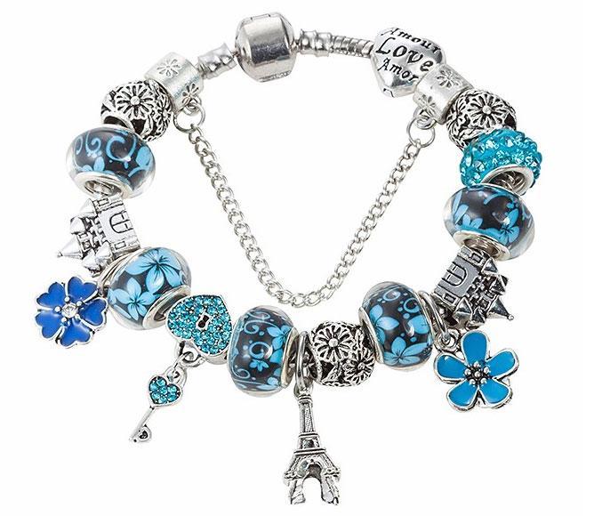 Женский браслет Primo Paris в стиле пандора - Blue