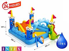 Детский надувной центр, батут Intex 57138, 185х152х107 см