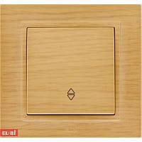 Проходной выключатель EL-BI Zena Woodline берёза (механизм)