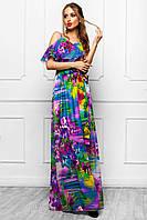 Длинное летнее платье в 5ти цветах JD Хилтон