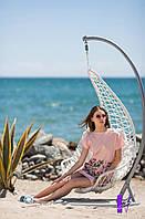 Легкое летнее платье из льна с вышивкой 1112 (МЮ)