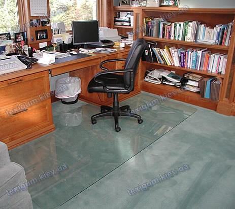 Ковер под кресло для защиты пола прозрачный 125х205см. Толщина 1,5мм