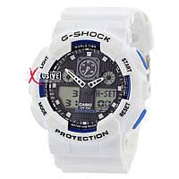 "Мужские спортивные часы ""Casio G-Shock Ga-100 White-Black""."