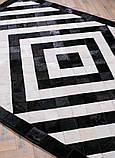 Ковер черно белый абстрация натуральная шкура, фото 2