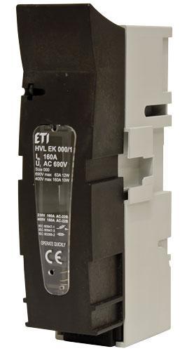 Разъединитель предохранителей ETI серия HVL EK (1-полюсный)