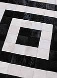 Ковер черно белый абстрация натуральная шкура, фото 3