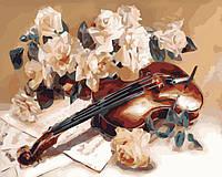 Раскраска на холсте без коробки Идейка Мелодия скрипки Худ Дарья Чачева (KHO5500) 40 х 50 см