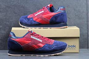 Мужские кроссовки Reebok замшевые синие с красным 41р, фото 3