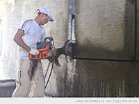 Вырезка проемов и отверстий в стенах