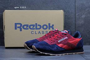 Мужские кроссовки Reebok замшевые синие с красным 41р, фото 2
