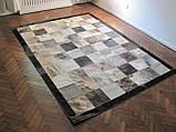 Сіро-бежевий тигровий дизайнерський килим з натуральної коров'ячої шкіри в Києві, фото 2