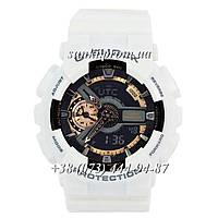 Неубиваемые спортивные наручные часы Casio G-Shock AAA GA-110 White-Сuprum