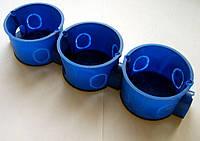 Коробка распределительная (подрозетник) синяя