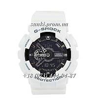 Неубиваемые спортивные наручные часы Casio G-Shock AAA GA-110 White-Black