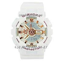 Неубиваемые спортивные наручные часы Casio G-Shock AAA GA-110 White-Gold