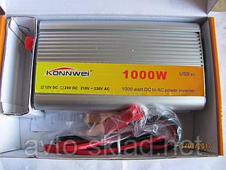 Преобразователь напряжения инвертор авто 12V-220V 1000W