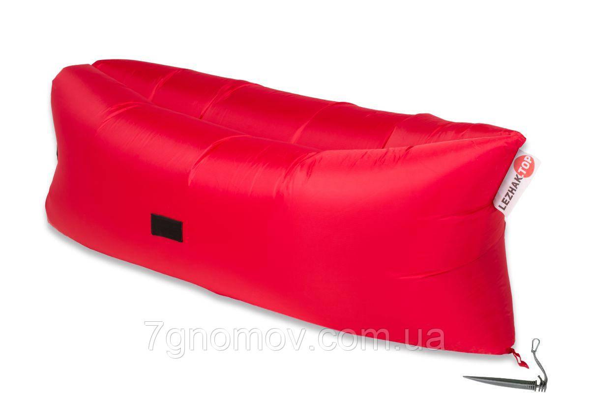 Ламзак, надувной шезлонг-лежак Premium красный