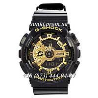 Неубиваемые спортивные наручные часы Casio G-Shock AAA GA-110 Black-Gold