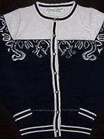 Кардиган, кофта школьная на пуговицах для девочки, темно-синяя, DENIS, Many&Many (Денис, Мени), 146, 152, 158