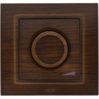 Диммер, светорегулятор с подсветкой 800W поворотный EL-Bi Zena Woodline темный орех (механизм)