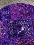 Фиолетовый винтажный ковер повышенной износостойкости для кухни и кабинета, фото 2