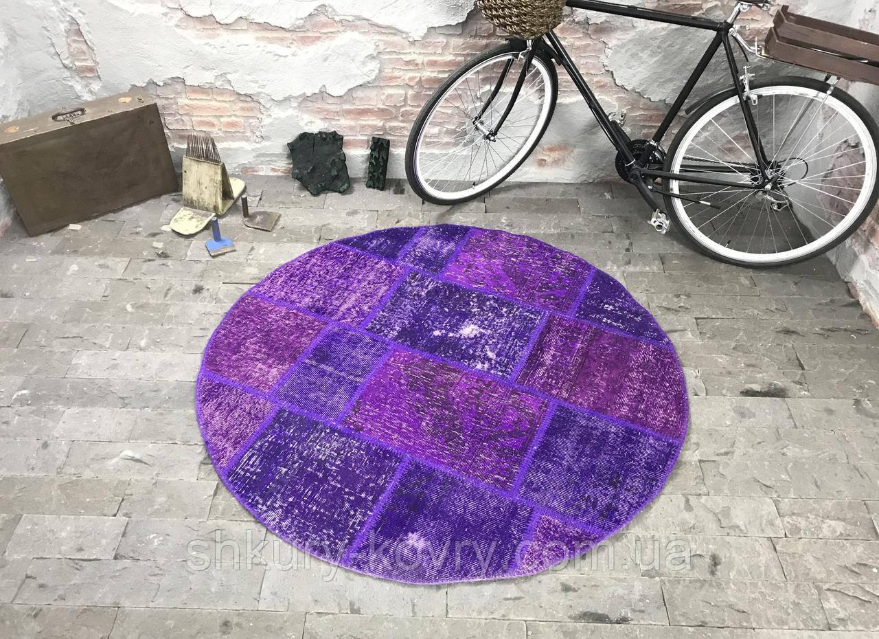 Фиолетовый винтажный ковер повышенной износостойкости для кухни и кабинета