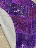 Фиолетовый винтажный ковер повышенной износостойкости для кухни и кабинета, фото 3