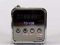 Мобильная колонка SPS TD V26, компактная музыкальная колонка, портативный мини-динамик с FM-радио
