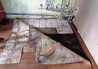 Демонтаж линолеума, ковролина