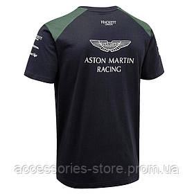 Мужская футболка Aston Martin Racing Men's Team T-Shirt 2017, navy/green/yellow