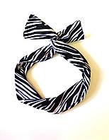 Повязка солоха, черно-белая полоска