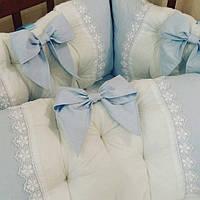 Бортики-защита в детскую кроватку на три стороны, фото 1