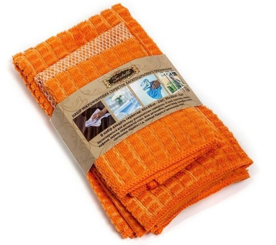 Набор микрофибровых салфеток для уборки (4шт) Zastelli