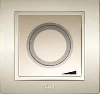 Диммер, светорегулятор с подсветкой 800W поворотный EL-Bi Zena Silverline титаниум (механизм)