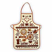 Махровый кухонный фартук Ароматный кофе