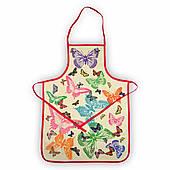 Махровый кухонный фартук Бабочки