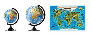 Глобусы и карты