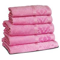 Махровое полотенце МЕЛ ТЕМ, 50х90см, 360г/м2 (розовое)